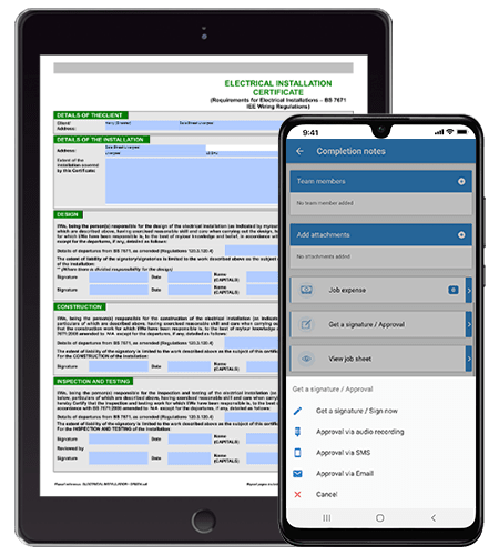 Mobile Inventory Management - Job Management Software System