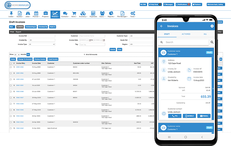 Mobile Invoicing - Create and send invoices from the app