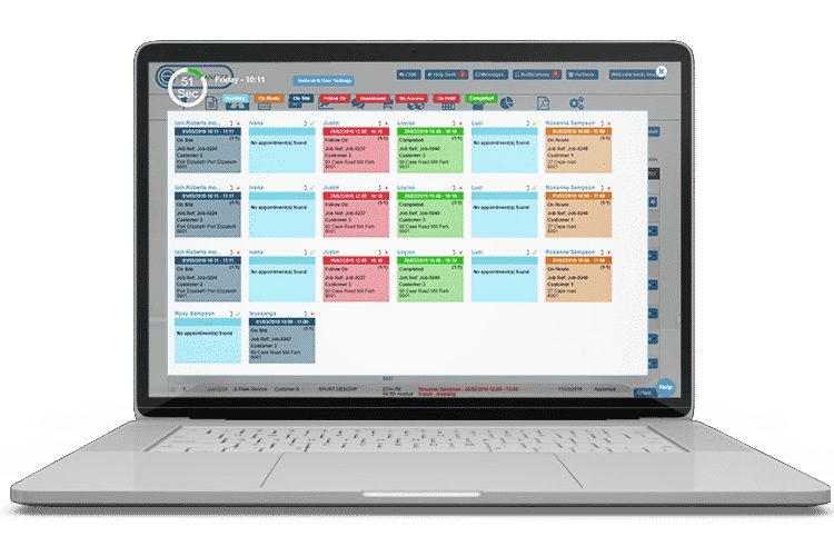 Live Panel view in our Workflow Management System