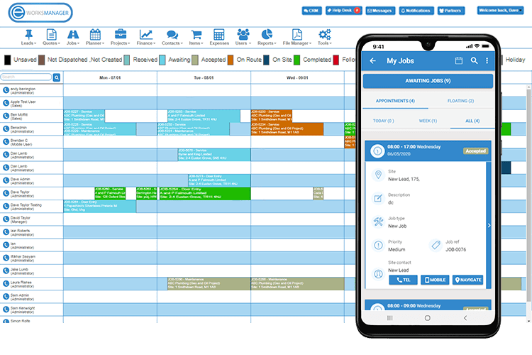 Employee Holiday App - View Employee Activity from the Time Planner