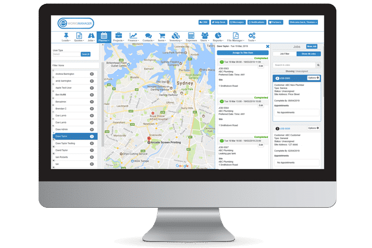 Route Planning Software - Live Mobile User Location