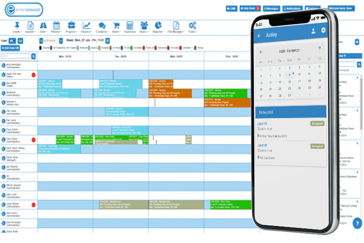 Service Dispatch Software - track and schedule your team with our range of planners