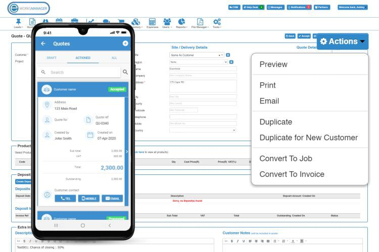 Handyman Software - Online Quoting Software - Print or Email quotes directly to clients