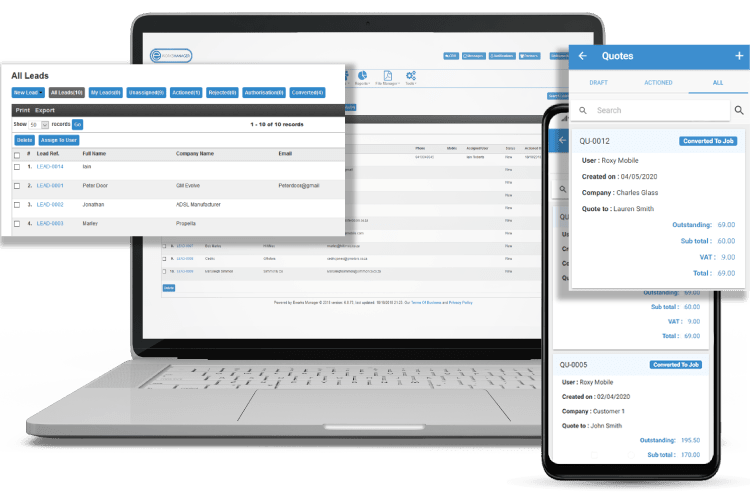 Task Management Software - Track Leads and Quote
